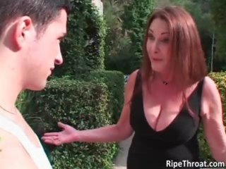 slutty redhead mother i sucks stiff cock