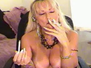 smoking fetish milf golden-haired
