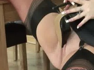 older british stocking slut fingering