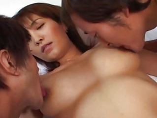 busty japanese older wife screwed at home