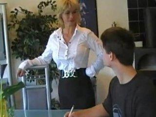 german mom teaches youthful boy