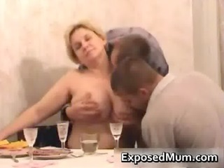 mom participates in sexy three-some after