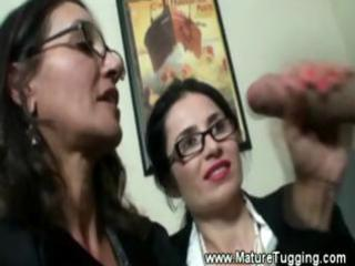 mature office ladies acquire hot at work