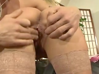 sexy german mama fucking on the daybed