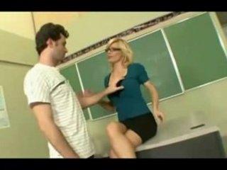 aged teacher educating students