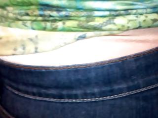 mature lady wear satin pants 10