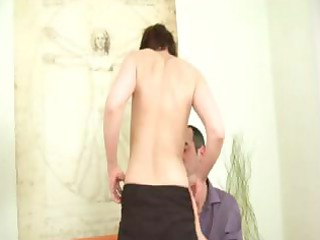 horny aged brunette hair receives fucked and then