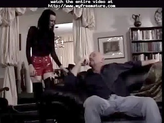goth hottie in leather fuck and footjob mature