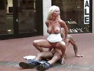 public sex milf fucked at a shoe store