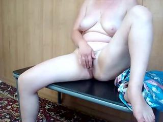 aged hawt milf selfshot masturbation
