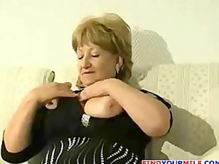 corpulent aged cougar acquire horny