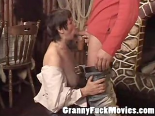 old slut engulfing rod