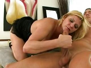 milf babe ginger lynn making a strong penis cum