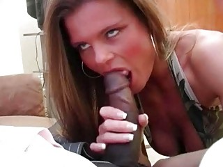 lascivious blond slut wife slurps on furious bbc