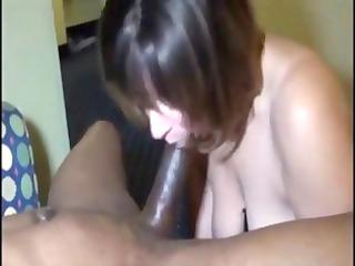 breasty brunette hair in an interracial fuck eats