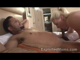 big butt blonde mamma in interracial vid