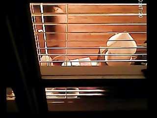 voyeur peeping tom throughout the window