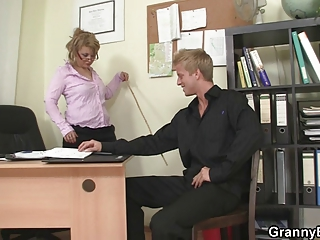 hot office sex with older whore