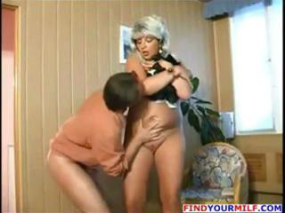 plump blond russian older receives and gives head