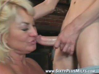 fine golden-haired grandma eager to fuck
