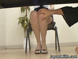 horny japanese milfs engulfing and fucking