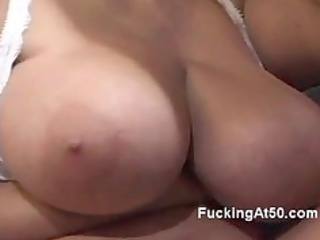 lustful redhead granny gives a young dude a