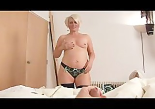 aged bimbo ruling over a penis pov