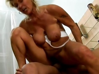 granny on top riding dick