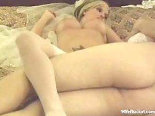 blonde bride honeymoon fuck
