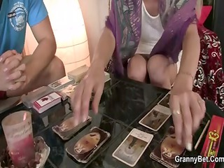 granny can not live out of to suck and ride his
