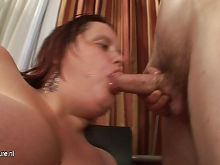 large titted mother engulfing her ass off