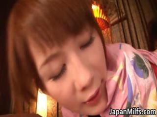 lascivious japanese milfs engulfing and fucking