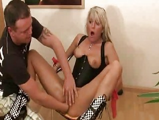 hawt golden-haired milf violently fisted in her