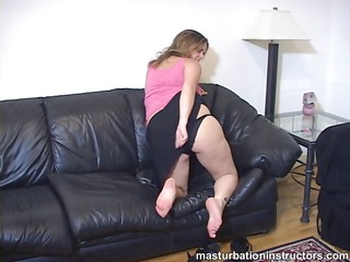 chubby masturbation teacher does her best to tease