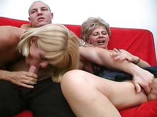 crazy aged whores share one meaty ramrod