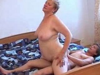unsightly granny and her chap having joy
