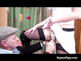 papy and a nice ally fucking hard this horny d