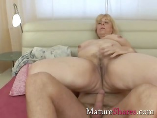 plump golden-haired mature