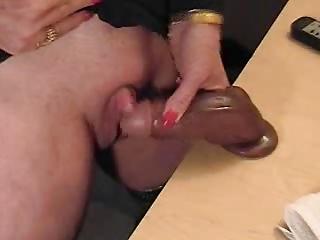 pervert grandma jerking off her giant love button