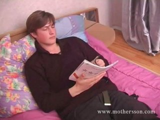 juvenile lad with russian sexy mommy and
