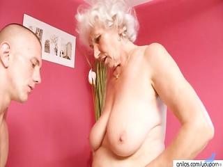 aged granny betty copulates youthful jock