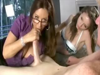 large titted milf shows how to tug to her legal