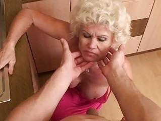 horny granny in hard pov action
