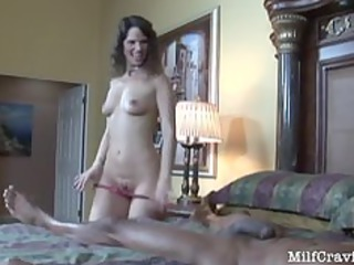 hawt mother i feels a black cock go into her from