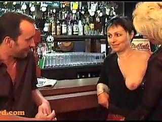 some with mature chicks in a bar