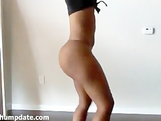 hot swarthy sweetheart presenting her large ass
