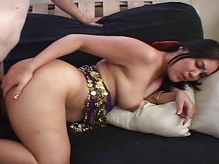 indian wife bends over and receives hard doggy