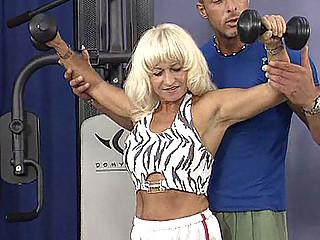 mamma fucks the gym ottoman