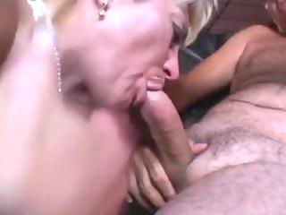 older blonde sucks a boy in a baths