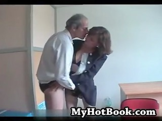 french aged married pair try-out on camera